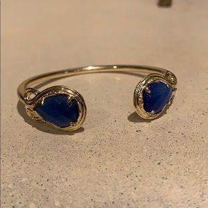 kendra scott blue stone gold cuff bracelet